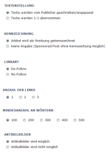 Blog Ads Sponsored Post erstellen