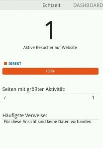 Google Analytics App Liveview