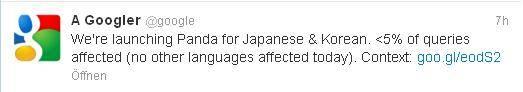 google panda japan und korea