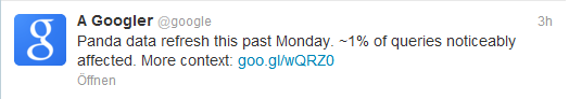 Google Panda Update 20 August 2012