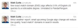 Google Algorithmusänderung betrifft Keyword-Domains