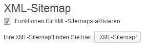 XML Sitemap aktivieren