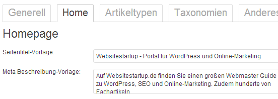 Eingabe von Meta Title und Description im WordPress SEO Plugin