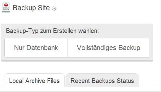 Mit BackupBuddy Backups einer gesamten WordPress Installation erstellen