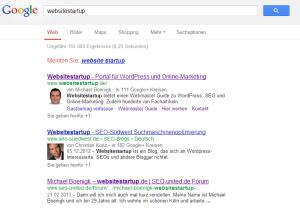 """Keine Sitelinks bei der Suche nach """"rankpress"""""""