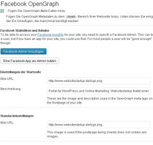 OpenGraph Meta Tags aktivieren
