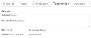 Taxonomien auf NoIndex setzen