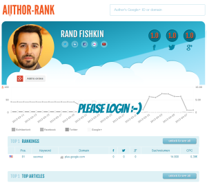 Author-rank.org Profil von Rand Fishkin