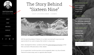 "Das ""Sixteen Nine"" Child Theme mit HTML5 Markup"