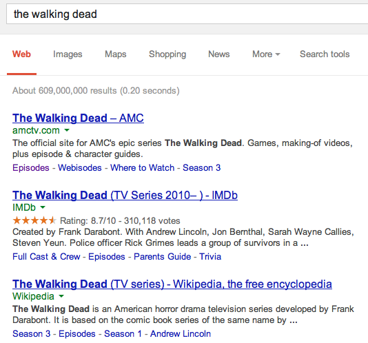 Google Experiment mit versteckten URLs