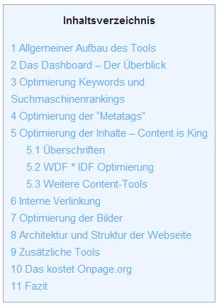 Table of Contents Plus Inhaltsverzeichnis für WordPress Seiten