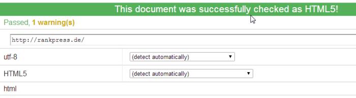 w3c html5 validator