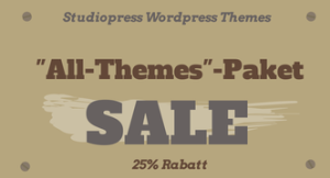 "Studiopress WordPress Themes – ""All-Themes""-Paket um 25% reduziert"