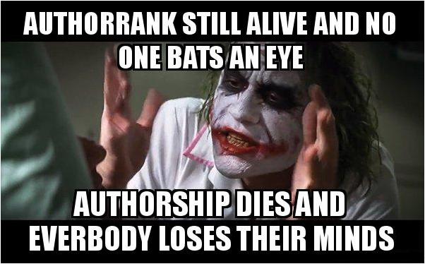 Google Authorship ist tot