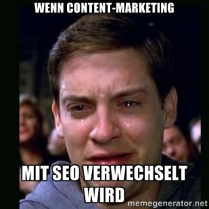 Mein Gesicht wenn Content-Marketing mit SEO verwechselt wird