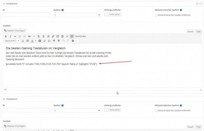 Wordpress Affiliate Theme - Aufbaustartseite mit Pagebuilder und Shortcodes