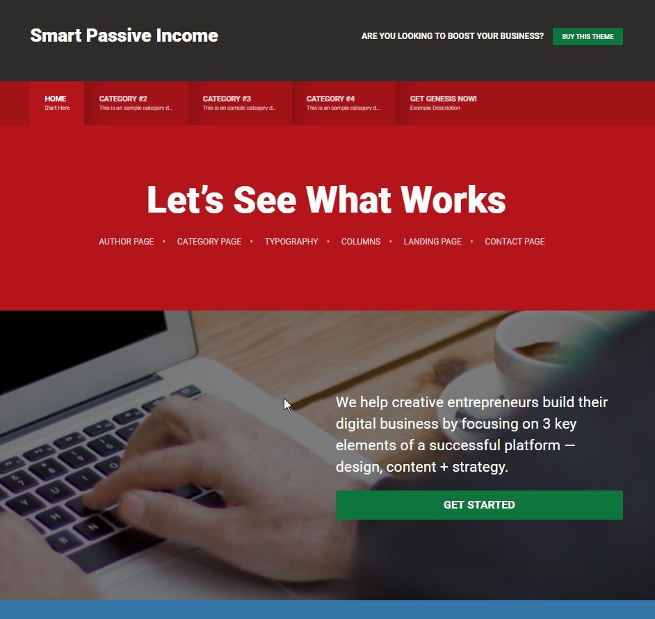 "Studiopress bietet das ""Smart Passive Income""-Theme für WordPress an"
