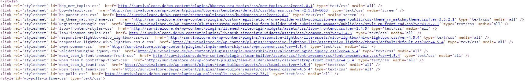 HTML Code mit Scriptaufrufen