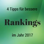 4 SEO-Tipps für bessere Rankings im Jahr 2017